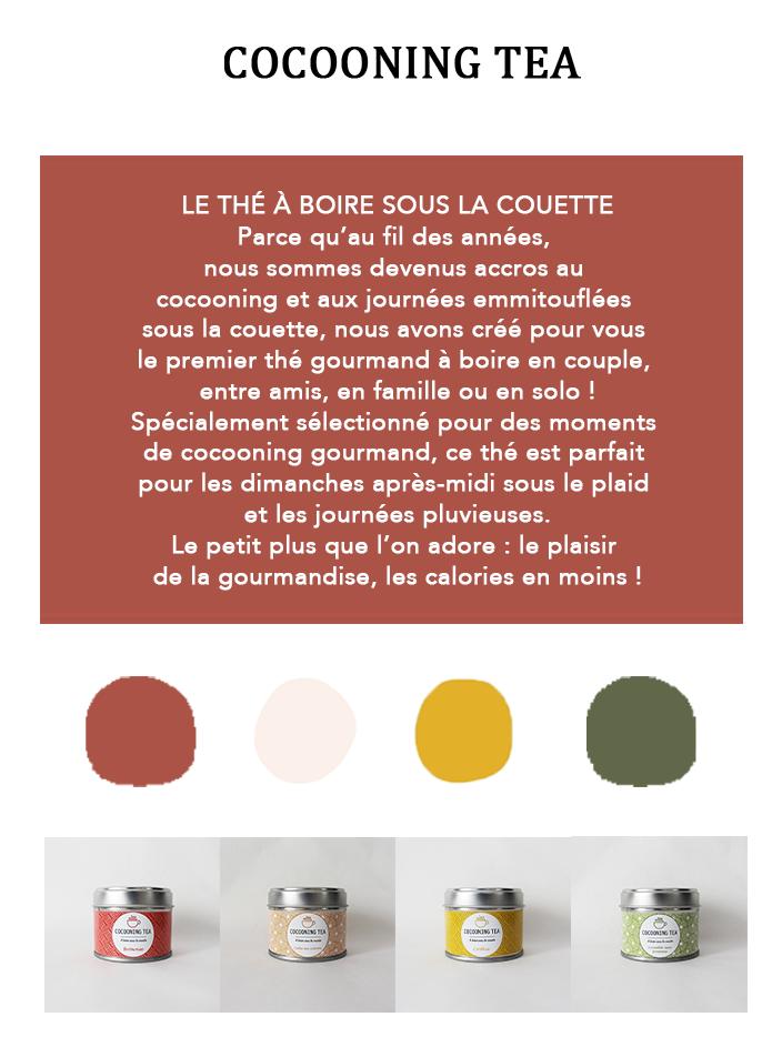 Rédaction de la promesse de marque de Cocooning Tea www.lacremedelacom.fr